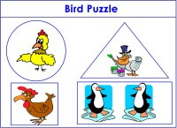 Bird Puzzle Shapes for bird week Theme