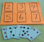Match up cards by number