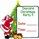 Christmas Party Sign – hang up the poster to show you are having a daycare or preschool party