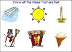 Circle The Items That Are Hot Worksheet