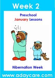 Click Here To Buy January Curriculum which has four weekly themes, posters, calendars and activity pages