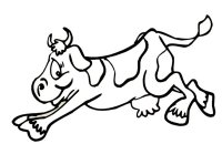 Jumping Cow Coloring Page Sketch Coloring Page