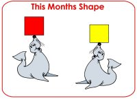 Toddler Shape Display – Red square