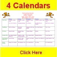 Toddler March curriculum includes 4 weekly calendars