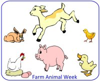 Preschool November Poster for Farm Animal unit