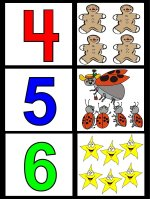 Toddler February Number Display To Hang ON Wall – Shows Numbers four, five and six, 4, 5 and 6