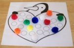 Penguin color activitiy to teach children their colors