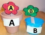 Plant Pot Flower Letters A, B, C Match Up