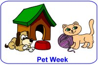 Toddler March Week 3 Poster for pet week theme