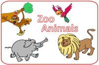 Toddler March Week 4 Poster for zoo animals week theme