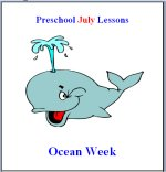 July Preschool Curriculum Ocean Week Theme