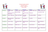 Preschool Calendar for December Week 2, Preschool Theme Winter
