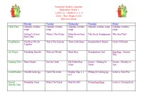 Preschool Calendar for September Week 1, Welcome Week Preschool Theme