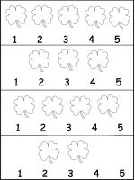 Shamrock Number Work Sheet