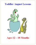Younger Toddler August Curriculum Lessons Plans, Hands on Activities
