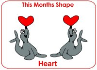 Toddler February Shape Display To Post For Parents To See This Months Shape – Heart Shape Display