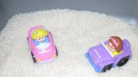 Toddler Transporation Theme -Sensory Activity – Playing with cars in the sand table