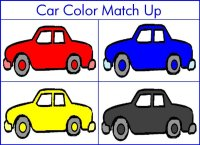 Toddler Transporation Theme – Match Up Cars By Color
